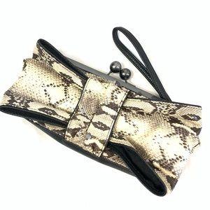 Jessica Simpson Darling Snakeskin Design Clutch